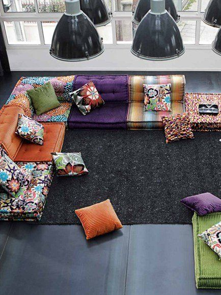 Obsessed with Roche Bobois....then joined by Missoni...heaven!