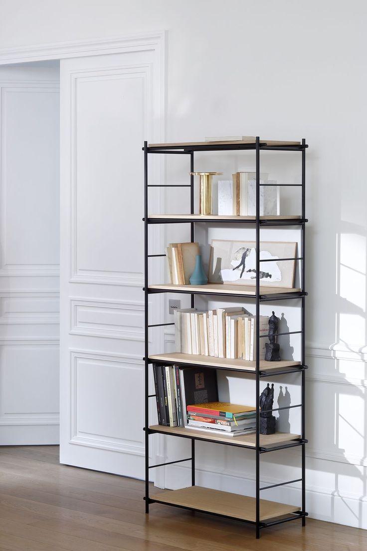 Biblioteca moderna / de MDF lacado / de roble / de metal SOLFERINO by Marco…