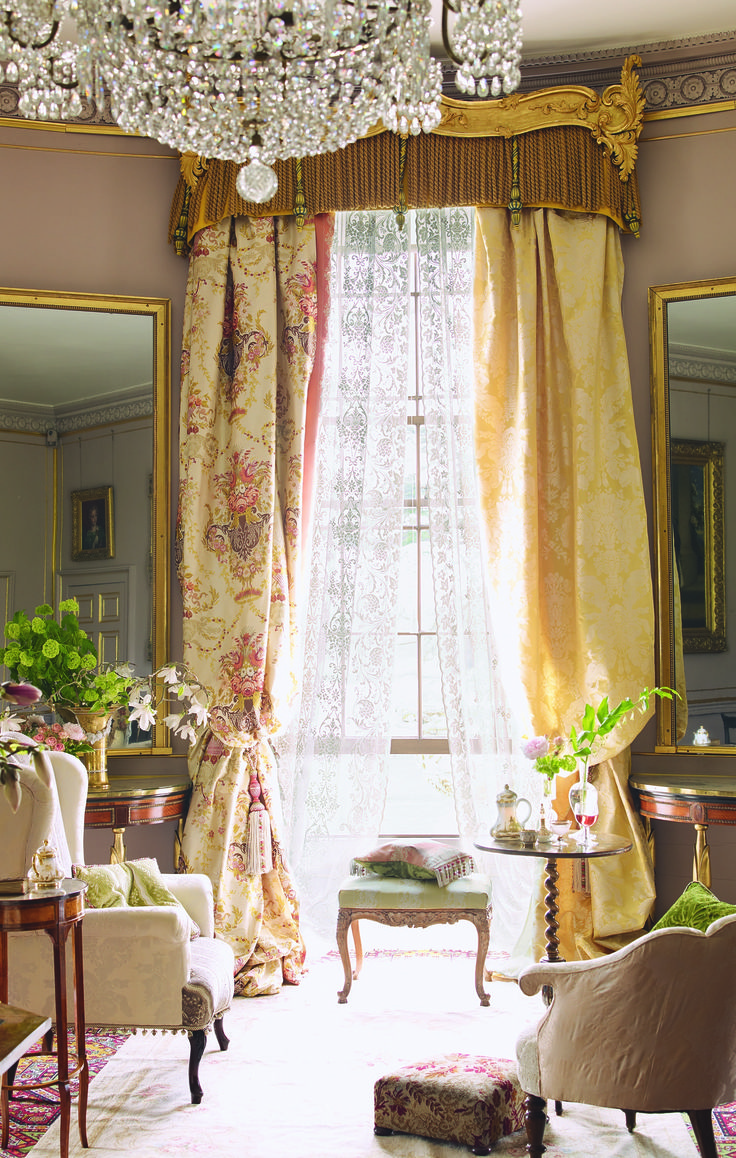 French Style Living Room Part - 37: French Country Decor: Extravagant Drapes