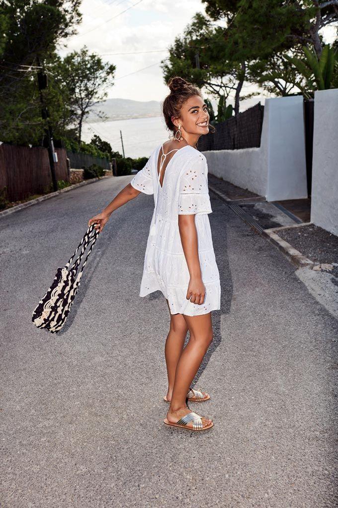 White dress summer