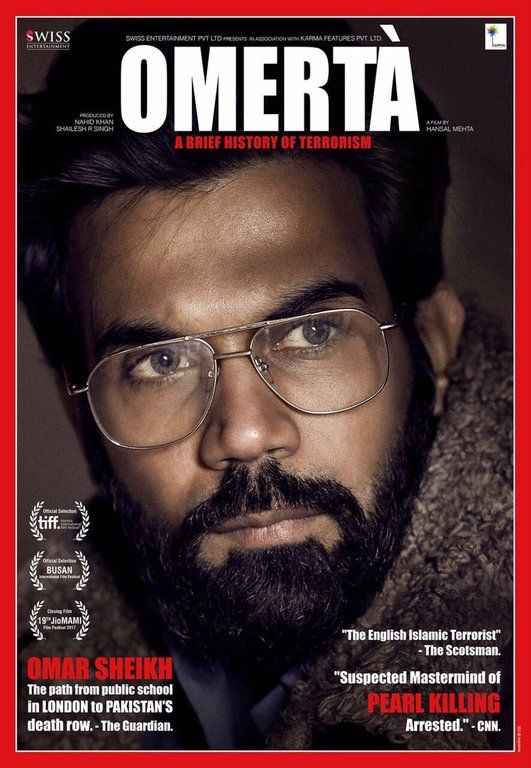 Omerta Movie Official Poster | Bollywood Movies | Full