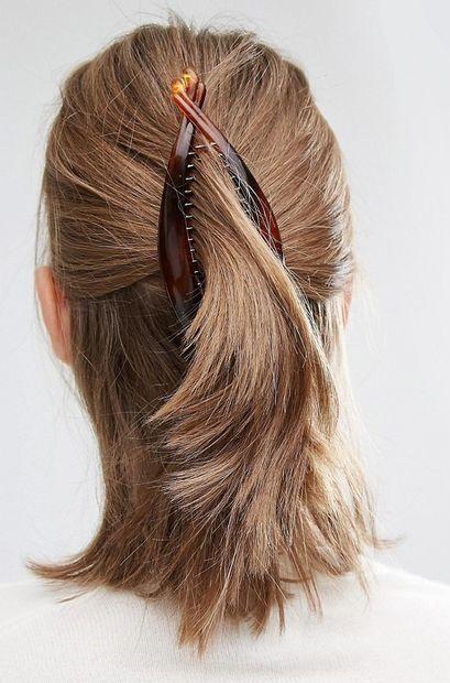 simple banana clip hairstyles short hair                                                                                                                                                                                 More