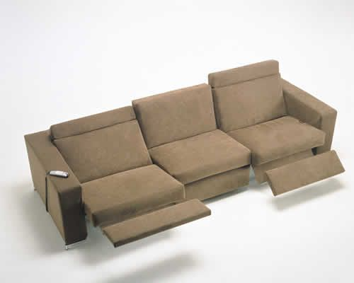 Modern reclining sofa recliners pinterest the o39jays for Contemporary reclining sofas