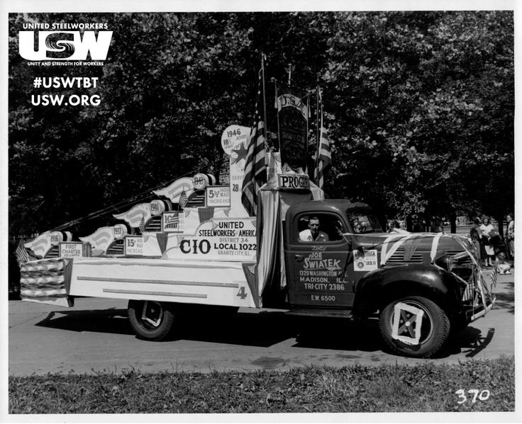 This week's #USWTBT is from Gary Gaines -- SOAR Coordinator from District 7! Pictured is Local Union 1022 in the 1946 Granite City Labor Day Parade. Members of Local Union 1022 worked at General Steel in the Commonwealth Plant. Share you #steelworker history with newmedia@usw.org and your submission could be our next #ThrowbackThursday!