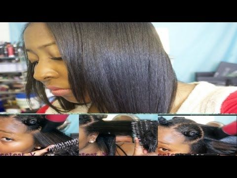 ❤Dominican Round Brush Blowout Tutorial | On Black Hair - YouTube