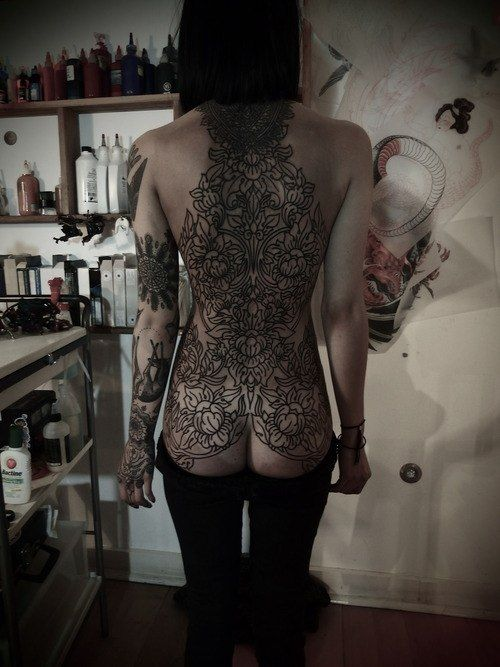 Hannah Pixie's full back tattoo is insane!   Along the lines of What im gonna get