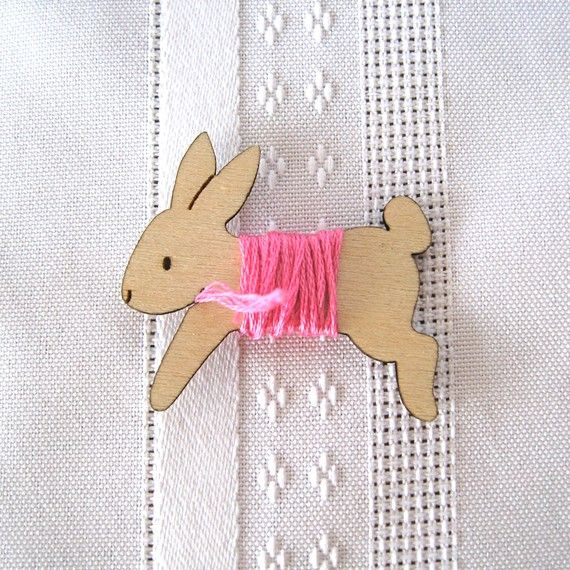 Lovey the Bunny Rabbit Embroidery Floss by gigglesnortsociety, $8.00