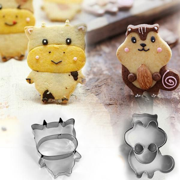free shipping, $7.03/piece:buy wholesale  cow chipmunk stainless steel cupcake cookie biscuit cutter fondant sugar cake decoration sandwich moldes metal mould cooking tools bakeware 2pcs,cow chipmunk,cow chipmunk on cakeworld's Store from DHgate.com, get worldwide delivery and buyer protection service.