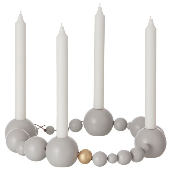 String candleholder, grey-brass, by Ferm Living.