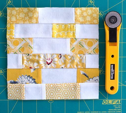Scrappy Strips Quilt Block Tutorial | Need to clear out your fabric stash? Make this simple strip quilt block!