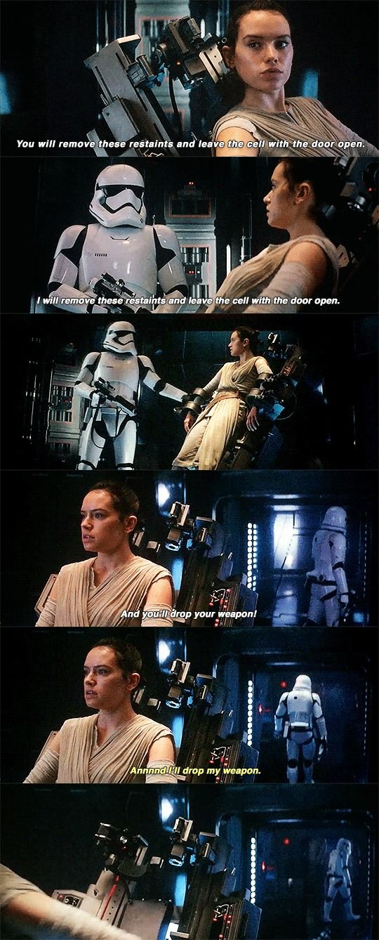 Star Wars VII - The Force Awakens / Rey and Stormtrooper
