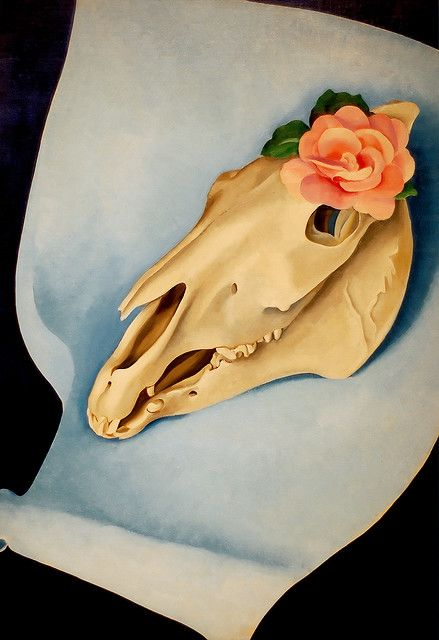 Horse's Skull With Pink Rose by Georgia O'Keefe Concentric Circle Exercise Inner Circle ME Respect, sincerity, self confidence, joyfulness and integrity Words and definitions from www.character-in-action.com/character-trait-definitions