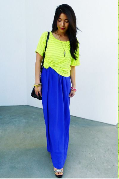 : Ideasstreet Style, Maxi Dresses, Colors Pop, Horns, Neon Glow, Long Skirts, Neon Style, Neon Colors, Maxi Skirts