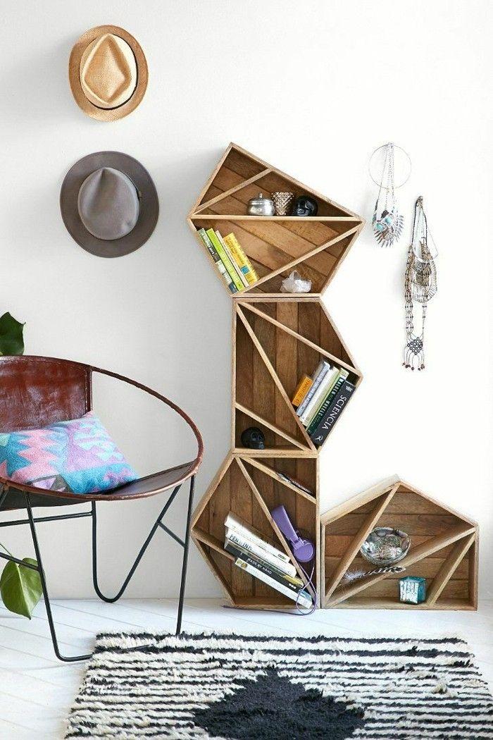 die besten 25 holzregal selber bauen ideen auf pinterest regal bauen echtholzm bel und. Black Bedroom Furniture Sets. Home Design Ideas