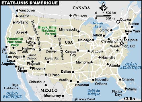 carte de la cote ouest des etats unis - Recherche Google
