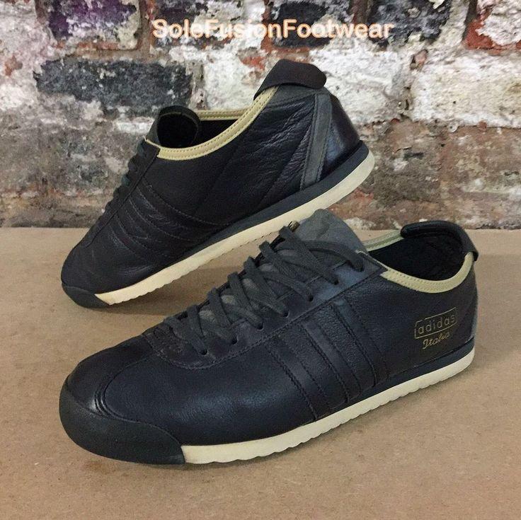 adidas Mens ITALIA Trainers Black size UK 9 1960s Rare Sneakers US 9.5 EU  43 1/3