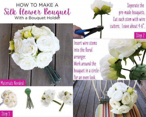 Jak zrobić bukiet ślubny/bukiety do wazonów!