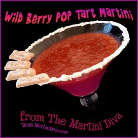 Why should kids have all the fun? The Wild #Berry #PopTart #Martini for National Pop Tart Day from MartiniDiva.Com.