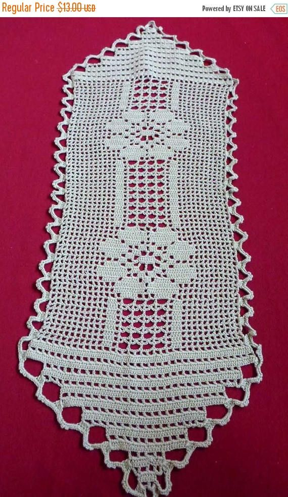 Beautiful vintage olive cotton crochet table runner lovely hand crocheted pattern In very good condition It can be a perfect gift. Creates a cozy atmosphere. Measurements (approx.) : 27 x 80 cm (10.6 x 31,5) .............♥Please convo me if you have any questions♥.............. •♥•♥•♥•♥•♥•♥•♥•♥•♥•♥•♥•♥•♥•♥•♥•♥•♥•♥•♥•♥•♥•♥•♥•♥•♥•♥•♥•♥•♥•♥•♥•♥• I will gladly combine shipping for you to keep postage as low as possible. Please contact me if you have any questions about this and I will let you...