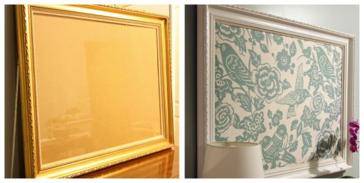 Gold Bed Frame Created With Spray Paint: From Gold Frame To Cute Pin Board! Spray Paint+cork+cute