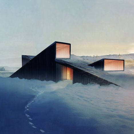 Norwegian architects Fantastic Norway have designed a mountain lodge with a sloping roof that you can ski over.