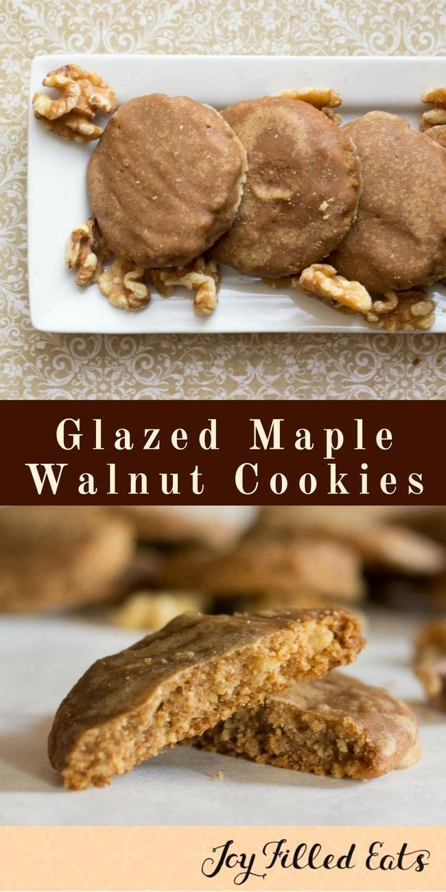 Glazed Maple Walnut Cookies Low Carb Grain Sugar Egg Free Thm