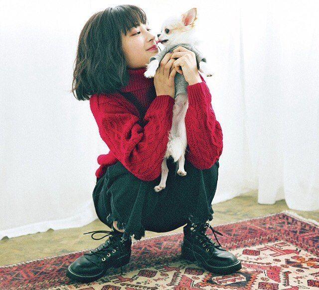 すずちゃん愛犬のぱーぷーちゃん #広瀬すず