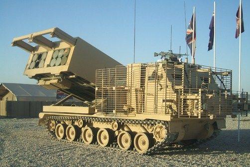 M270B1 MLRS 227 mm British Army