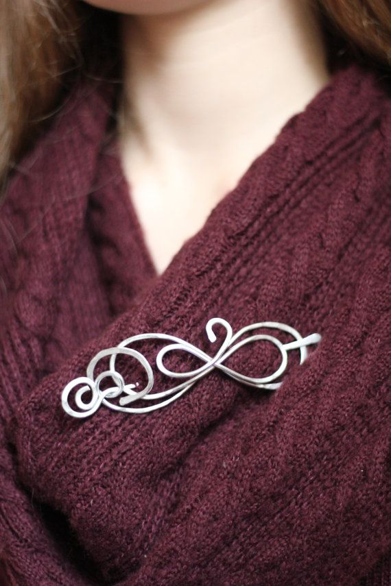 Beautiful Figure 8/eternity scarf pin / shawl pin/ by RivelinArts
