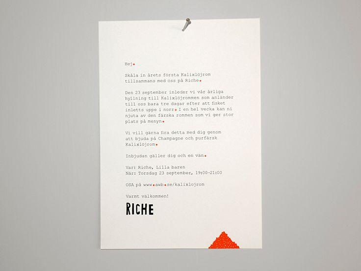 Riche Menus & invites – Made To Order
