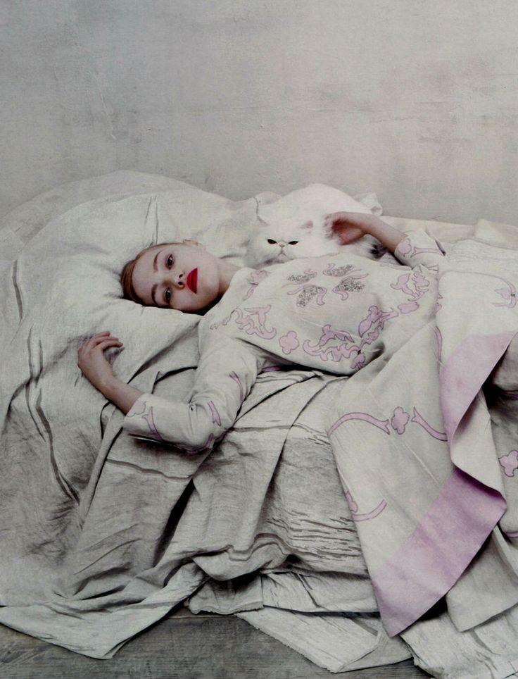 Sasha Pivovarova by Steven Meisel