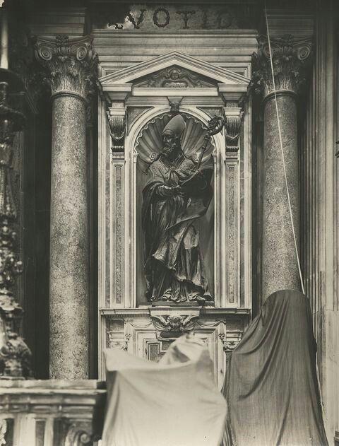 """Sant""""Eusebio. Giuliano Finelli.  1646-1648. Cappella di San Gennaro."""