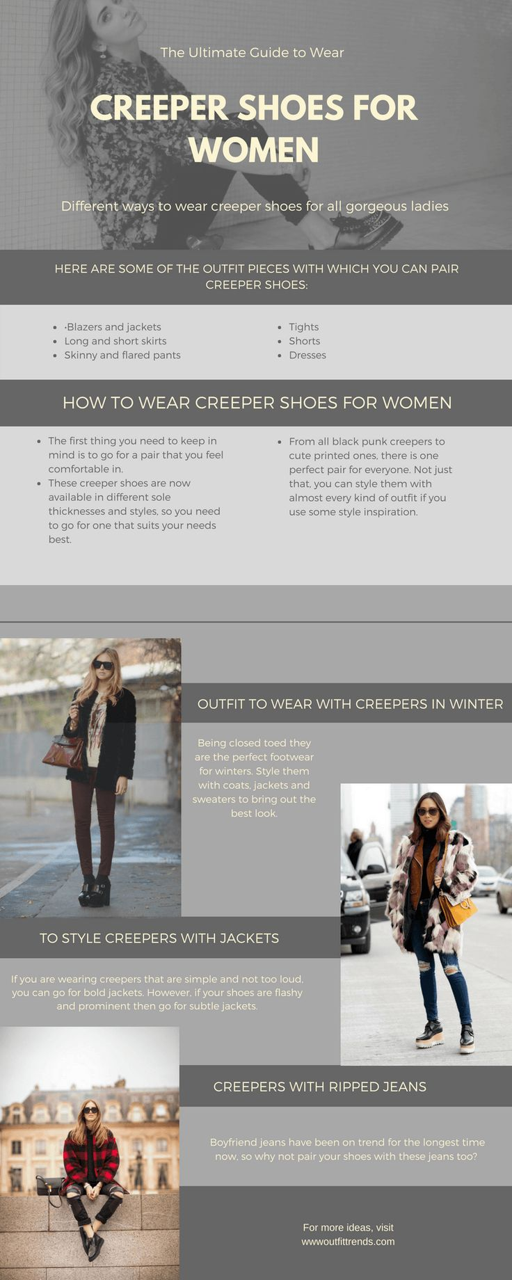 Women Creeper Shoes Outfits - 22 Ways to Wear Creeper Shoes
