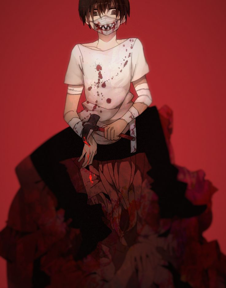 Bloody anime boy Gore
