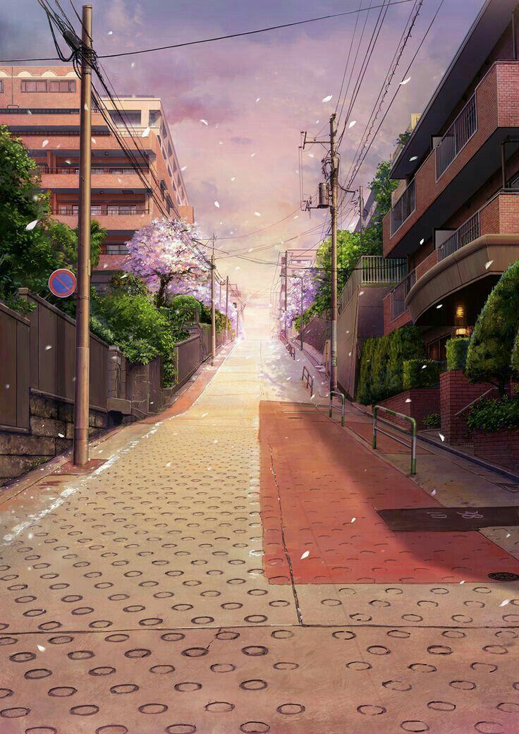 Mentahan Cover Latar Belakang Pemandangan Anime Pemandangan