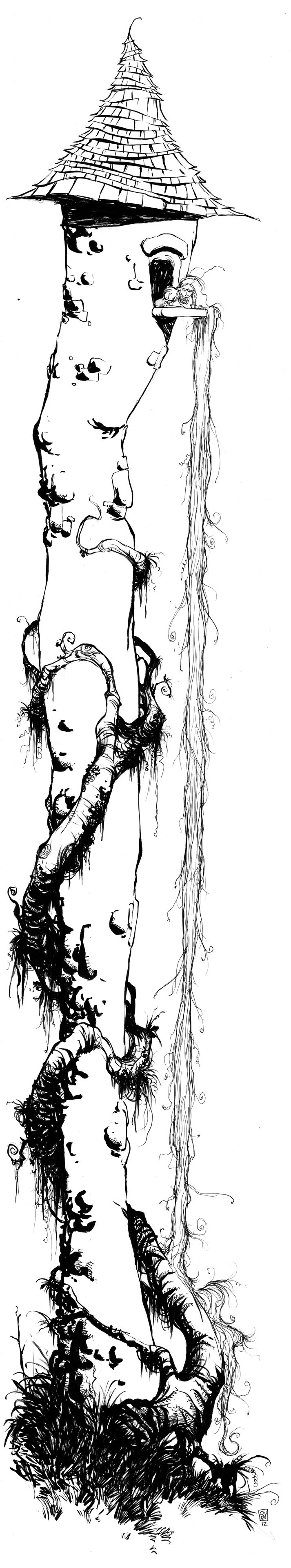 Rapunzel Daily Sketch by the incomparable Skottie Young on DeviantArt