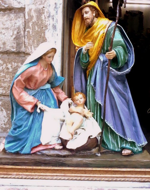"""Paper Mache Nativity sets - 12"""" and 16"""" sizes available. See our website for details."""