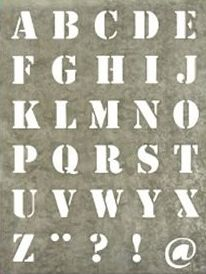 pochoir lettres                                                       …