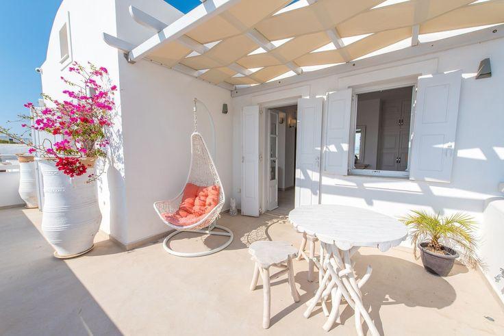 Simplistic styles with pops of color makes each suite and villa unique at Santorini Secret Suites and Spa