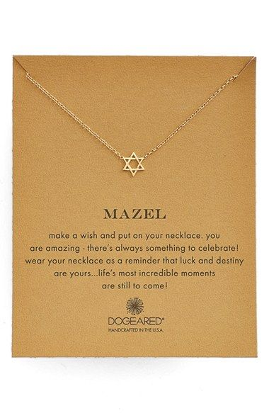 Dogeared 'Mazel' Star of David Pendant Necklace available at #Nordstrom