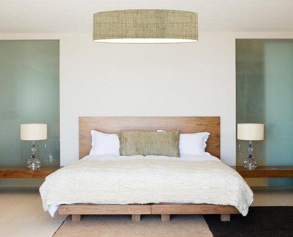 Deckenleuchte Leinenoptik Wandbilder schlafzimmer