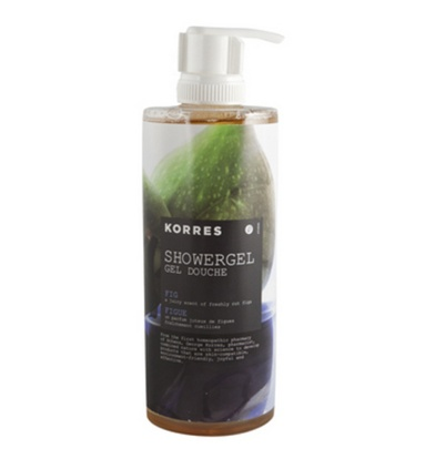 Korres showergel.. I love the fig scent.. the scent stays even after its washed away. :-)
