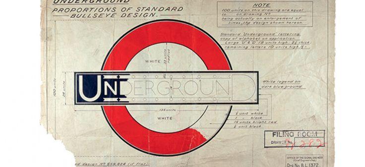 Les spécifications pour la cocarde d'Edward Johnston, vers 1925 / Photo fournie par le musée du transport de Londres