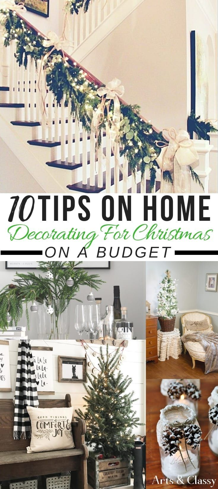10 Tips on Home Decorating For Christmas on a Budget + FREE Printables