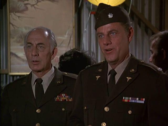 M*A*S*H: Season 2, Episode 15 Officers Only (22 Dec. 1973) Mash, 4077, McLean Stevenson , Lt. Colonel Henry Blake, Robert F. Simon , Gen. Maynard M. Mitchell