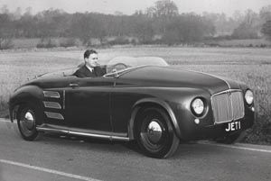 1950 - Jet1, based on a P4, this was the worlds first car powered with a gas turbine engine. The two-seater had the engine positioned behind the seats, air intake grilles on either side of the car, and exhaust outlets on the top of the tail.