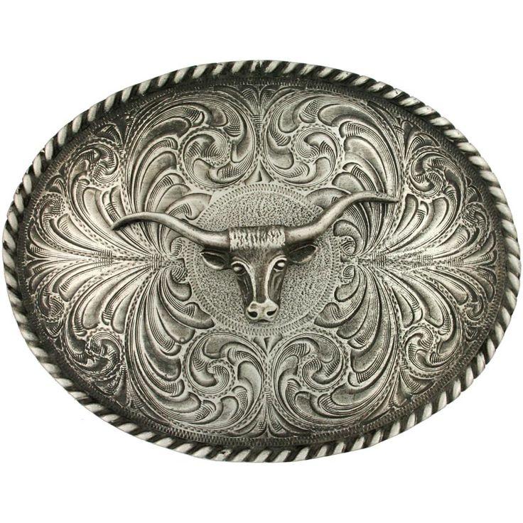 Montana Silversmiths Steerhead Antiqued Belt Buckle