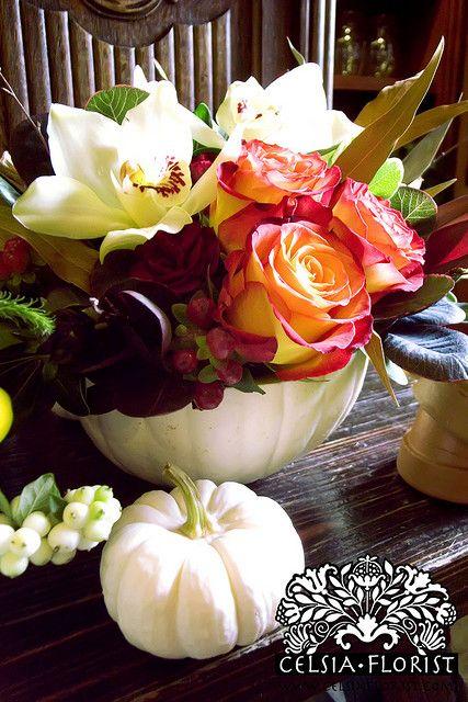Fall / Pumpkin Floral Arrangement