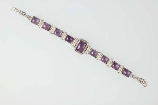 Bracelet B00010 Silver 925° stone Amethystos