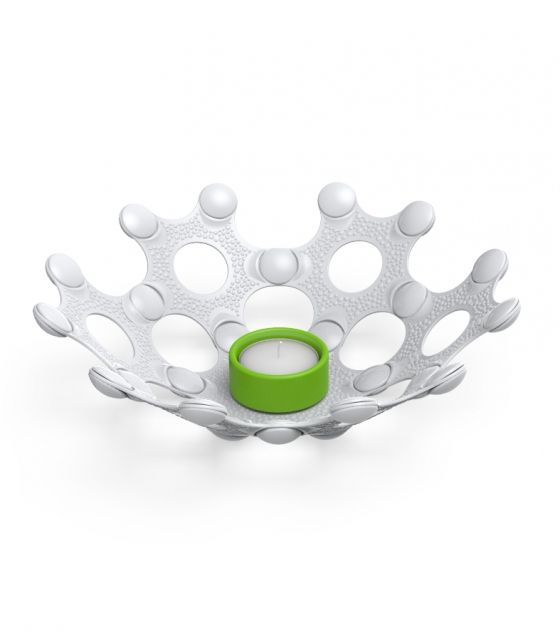 No matter where in the world you are, for us candle light is part of the Christmas spirit. This white and green eco-friendly tea candle holder is great!!